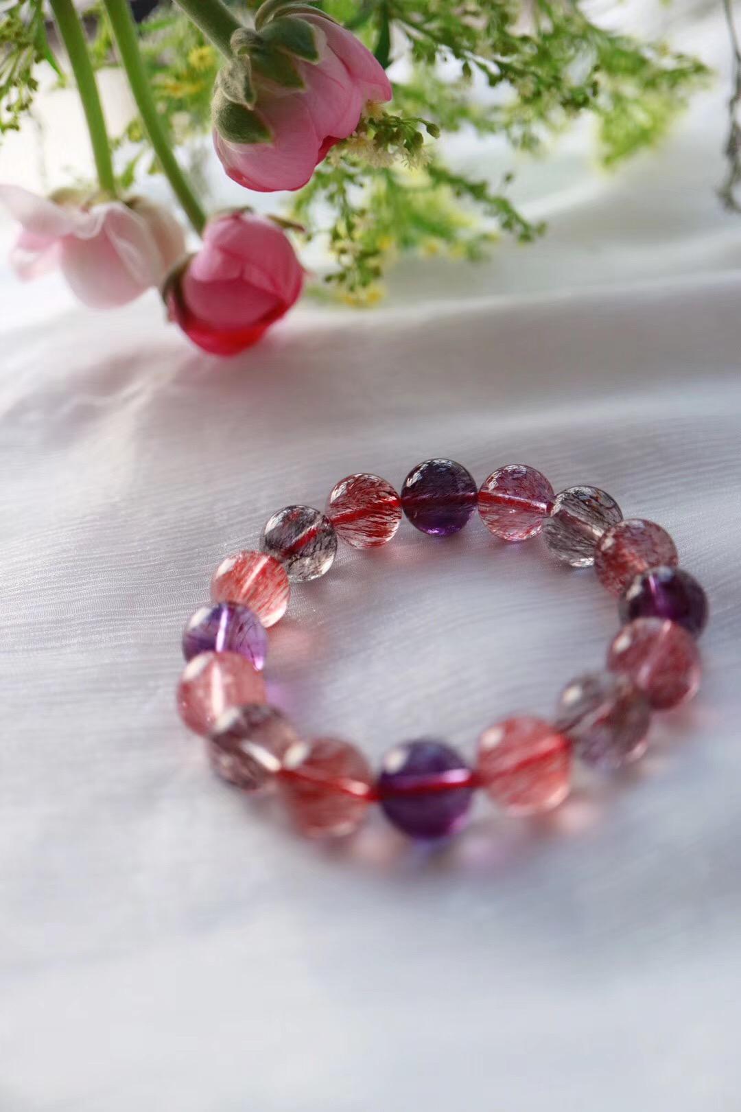 【超七紫发晶】一串浪漫紫梦,爱意绵绵-菩心晶舍