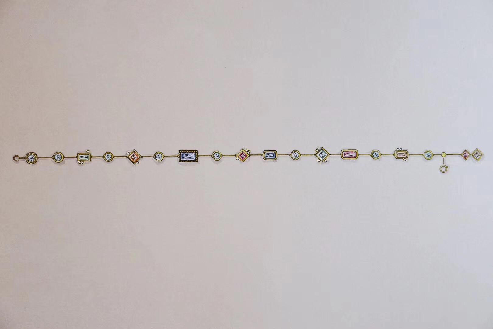 【碧玺】新的一款撞色脚链,细节小心机-菩心晶舍