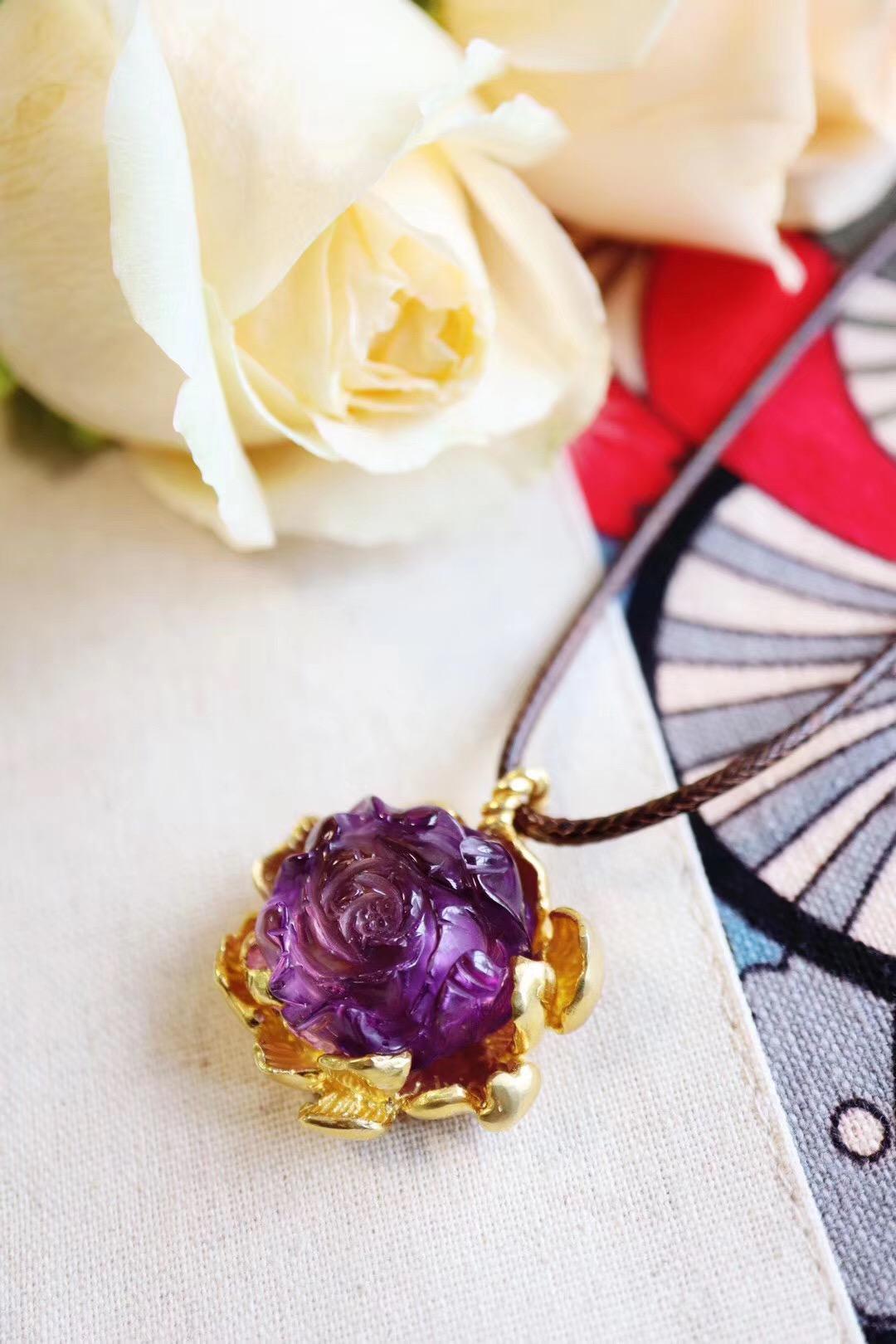 【收藏级紫晶花】那年春,除却花开不是真-菩心晶舍
