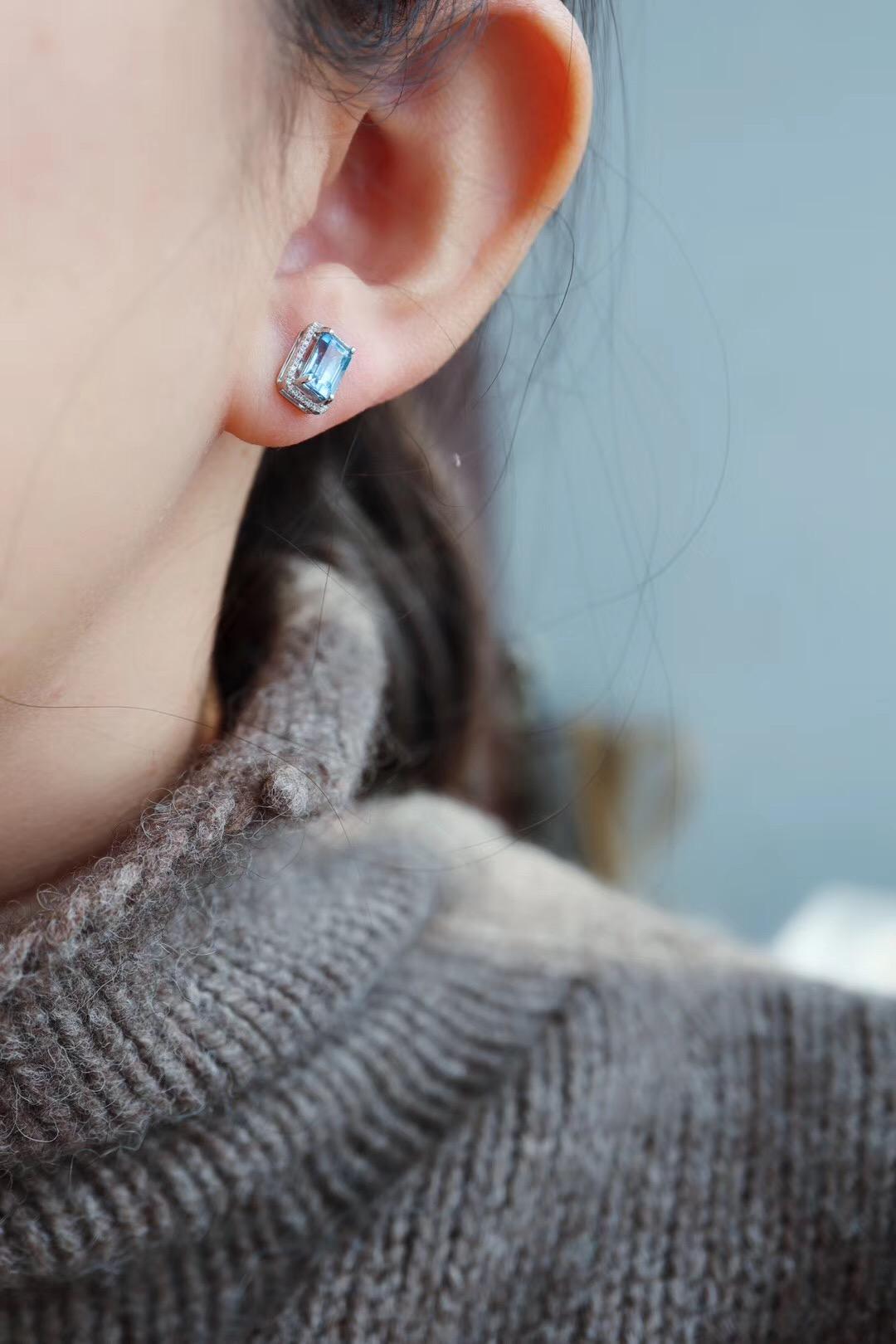【海蓝宝&白金镶嵌】佩带海蓝宝石能够使人具有先见之明-菩心晶舍
