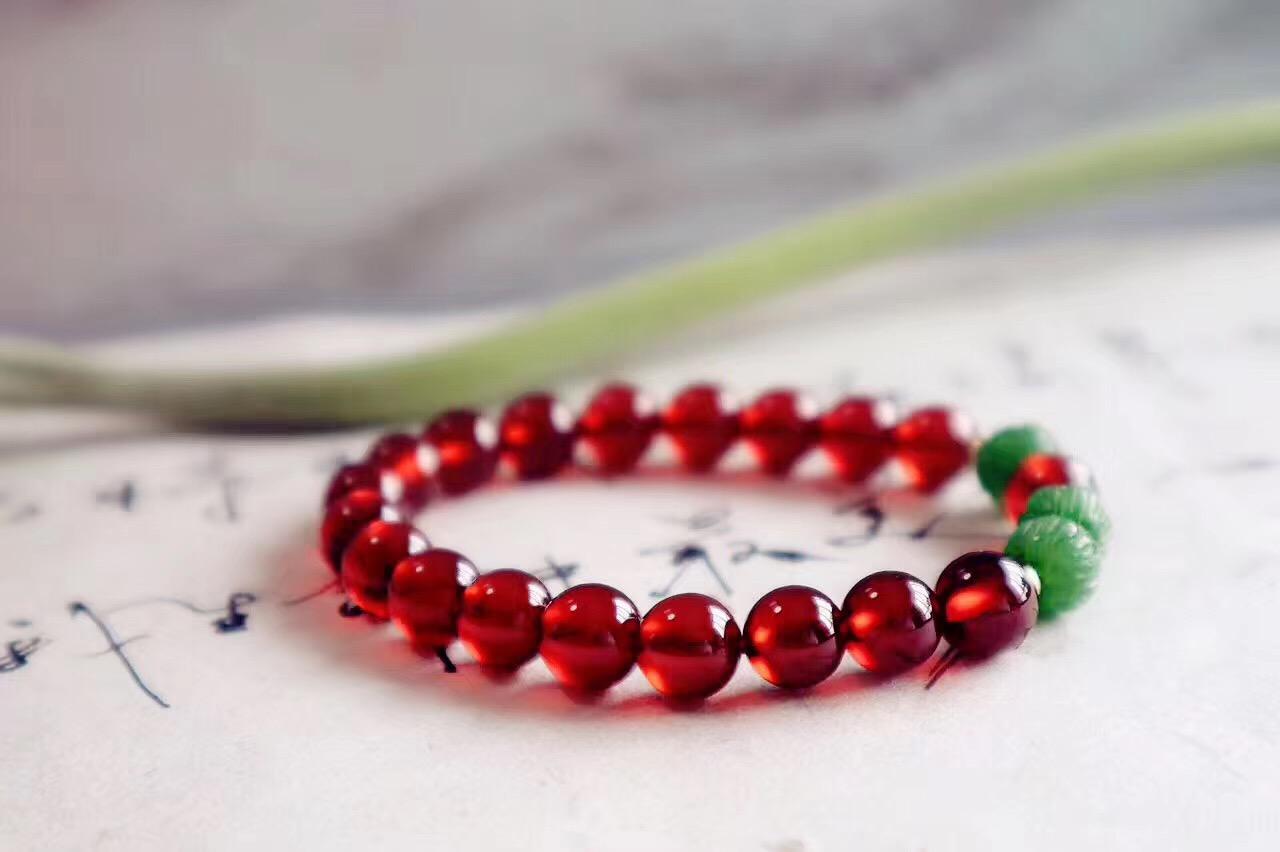 【极品石榴石】增强脐轮能量,女性身体健康的天然理疗师-菩心晶舍