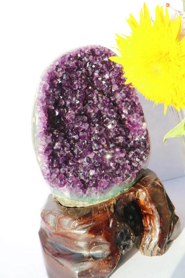 奉上一款原矿紫晶簇屏风,紫气东来-菩心晶舍