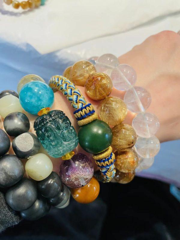 【客户返图】捷克陨石、灰月光、多宝珠、蓝针、钛晶等-菩心晶舍