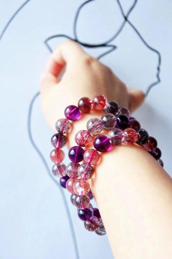 极品超七紫发晶,水晶中的白富美-菩心晶舍