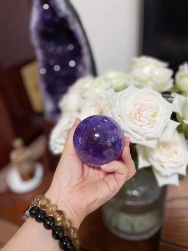 【客户返图】紫晶球,紫晶洞,捷克陨石,钛晶,家中必备摆件!-菩心晶舍