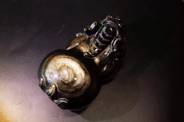 顶级金耀石貔貅,自带金光的灵瑞神兽,福气满满-菩心晶舍