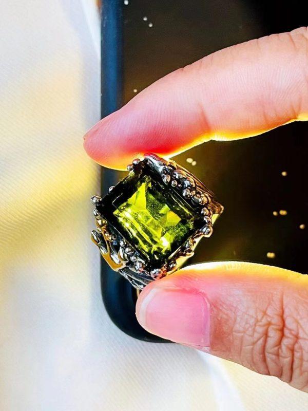 新做好一枚捷克陨石大戒指,海王的调调-菩心晶舍