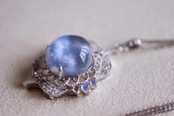 蓝发晶、粉晶,非常仙气,显嫩-菩心晶舍