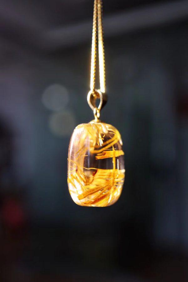 一颗钛晶小方糖吊坠,方方正正,胖胖乎乎-菩心晶舍