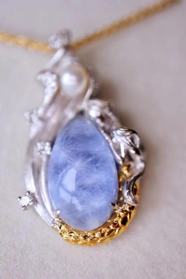 蓝发晶&美人鱼吊坠,你是拥有山川河海的神明-菩心晶舍