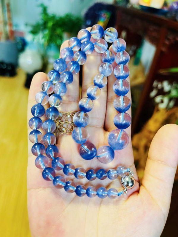蓝发晶项链,有勇气的来询价-菩心晶舍