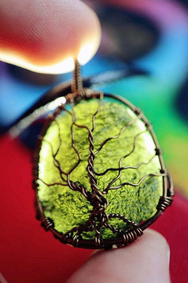 """经典款捷克陨石 """"生命之树""""的设计-菩心晶舍"""