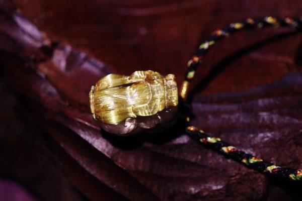 一只板钛晶貔貅手绳,年中增强事业运,很香~-菩心晶舍