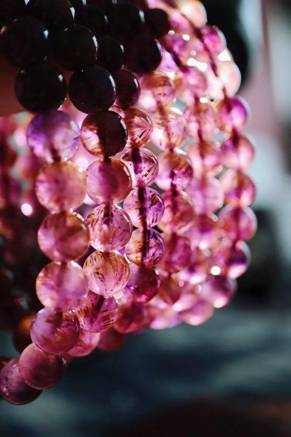 紫钛晶又名火焰水晶,代表一种积极、热情、乐观、坚强-菩心晶舍