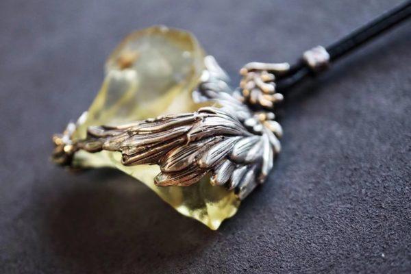 黄金陨石天使之翼吊坠,重工-菩心晶舍