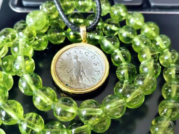 【客户返图】古币、橄榄石返图,我最宝贵的,就是常常有感动。-菩心晶舍