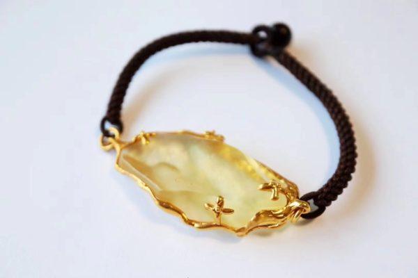 利比亚黄金陨石手绳设计-菩心晶舍