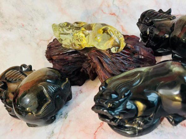 黄水晶貔貅、金耀石貔貅,请各位客官自配BGM~-菩心晶舍