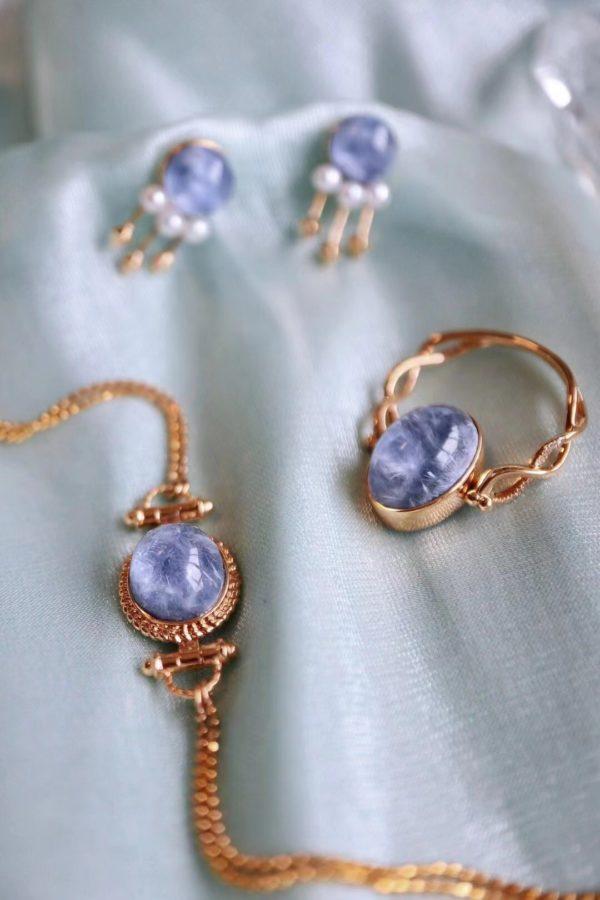 蓝发晶系列套装,戴上清新而高贵-菩心晶舍