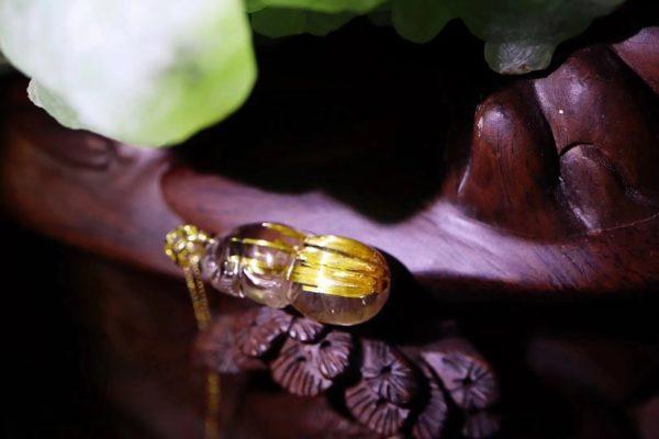 奉上顺板钛晶的金葫芦,颜值超高~-菩心晶舍