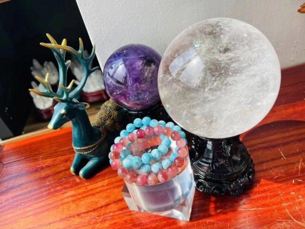 海纹石、粉碧玺,超嫩组合,阳光果然是最好的滤镜-菩心晶舍
