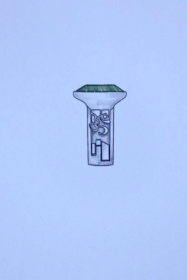 """捷克陨石""""无垢""""系列,第一款,莲花六字箴言 第二款,宇宙原音ॐ戒""""-菩心晶舍"""
