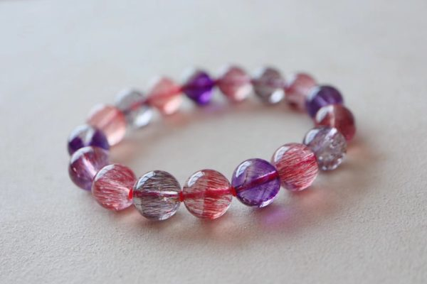 值得期许的小确幸 — 紫发晶手链-菩心晶舍
