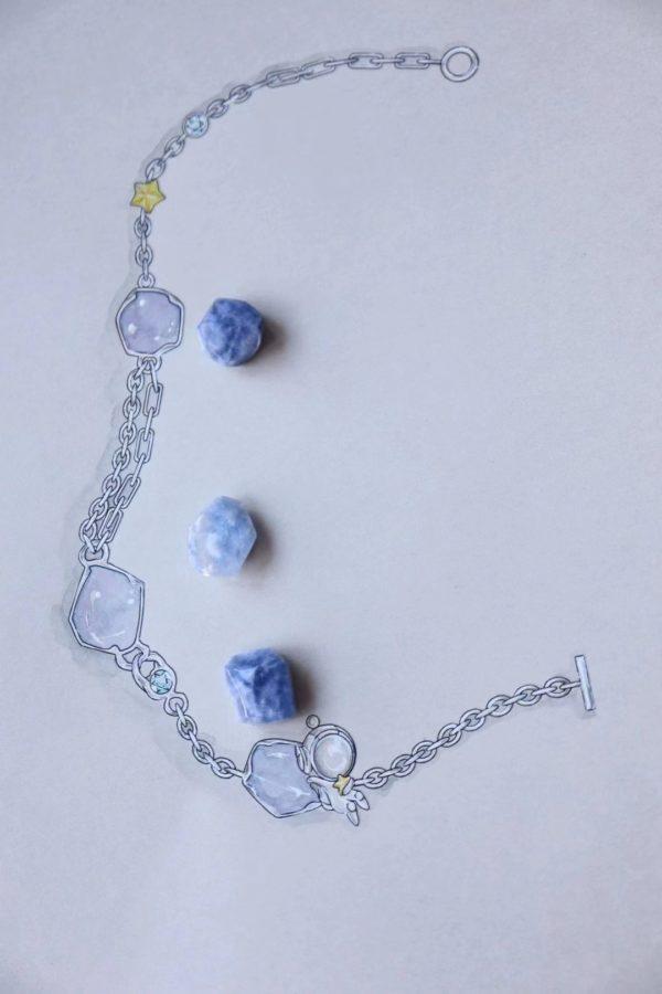 蓝发晶的第一款宇航员系列,不是客定,宝宝们可以截-菩心晶舍