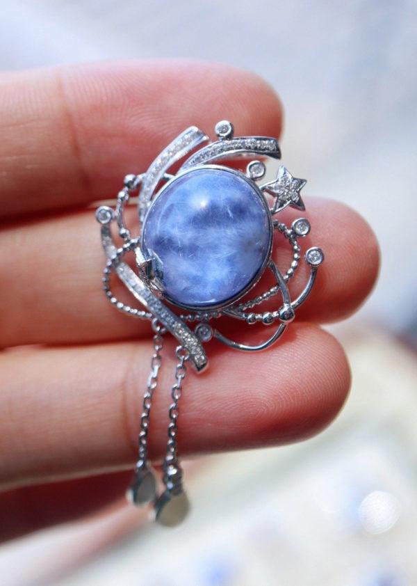 绝美蓝发晶设计,小仙女必收-菩心晶舍
