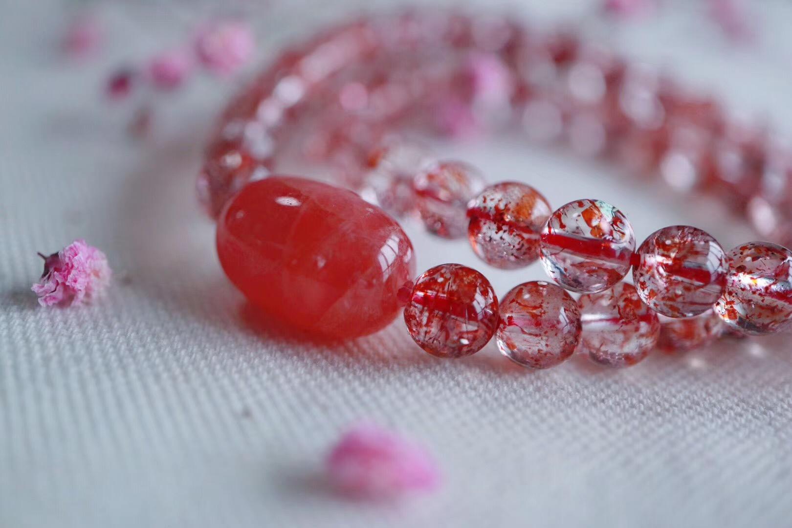 【菩心 | 金草莓晶】能量强大且极具灵气,对身心灵频率的提升很有帮助-菩心晶舍
