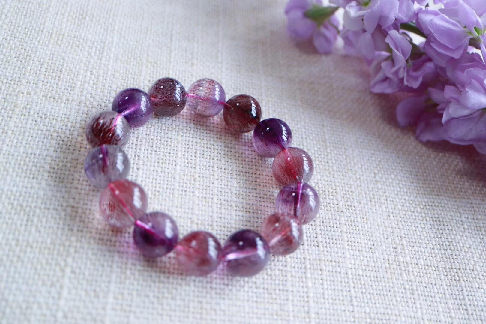 【菩心 | 三轮骨干紫发晶】紫发晶拥有很高的磁场,极具灵性-菩心晶舍