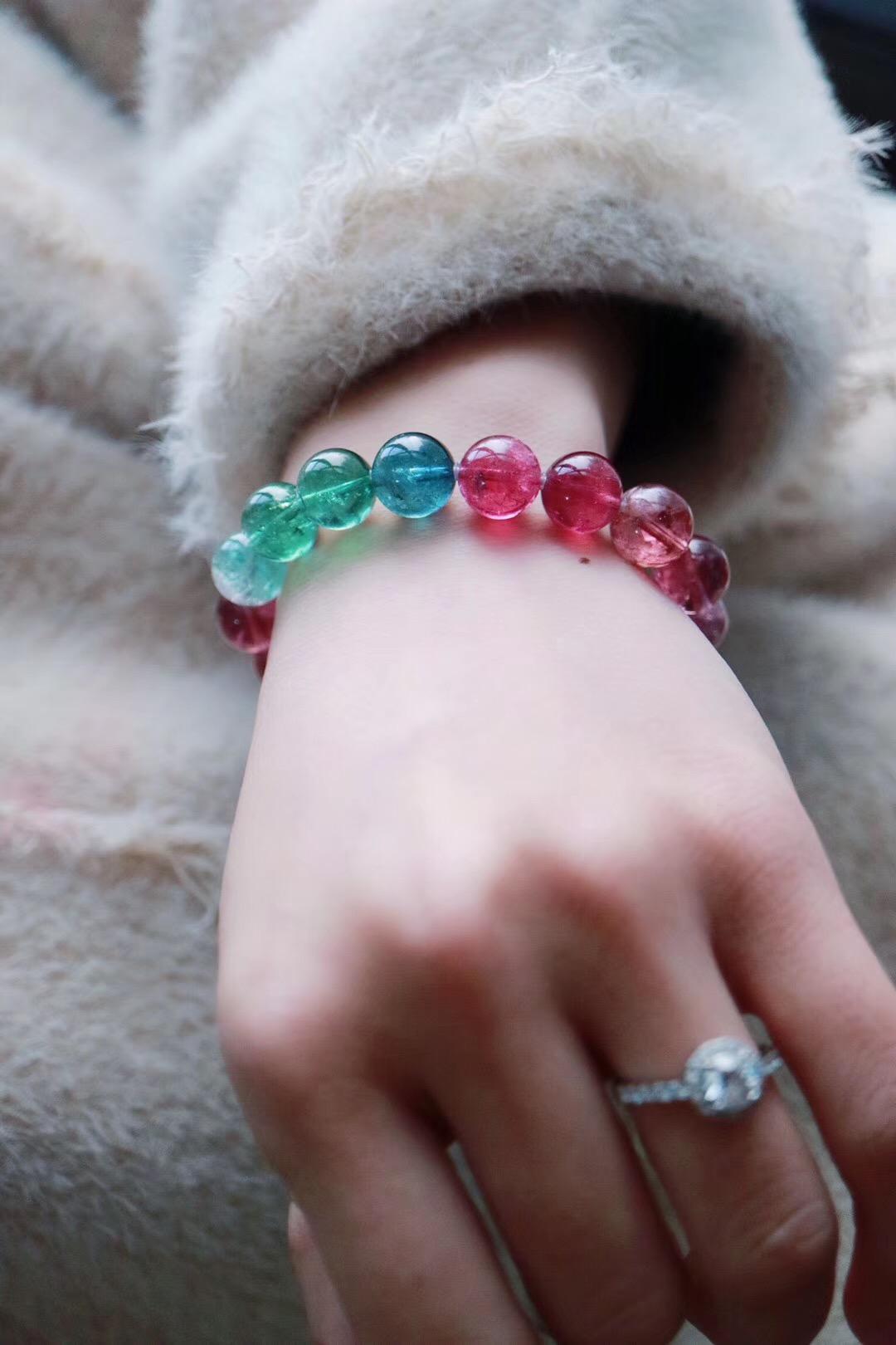 【菩心   碧玺】收藏级的彩色碧玺:蓝色,绿色,红色,西瓜色,猫眼碧玺-菩心晶舍