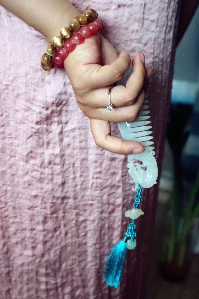 【翡翠玉梳之美 ▏ 赠之与你,述之我心】菩心-菩心晶舍