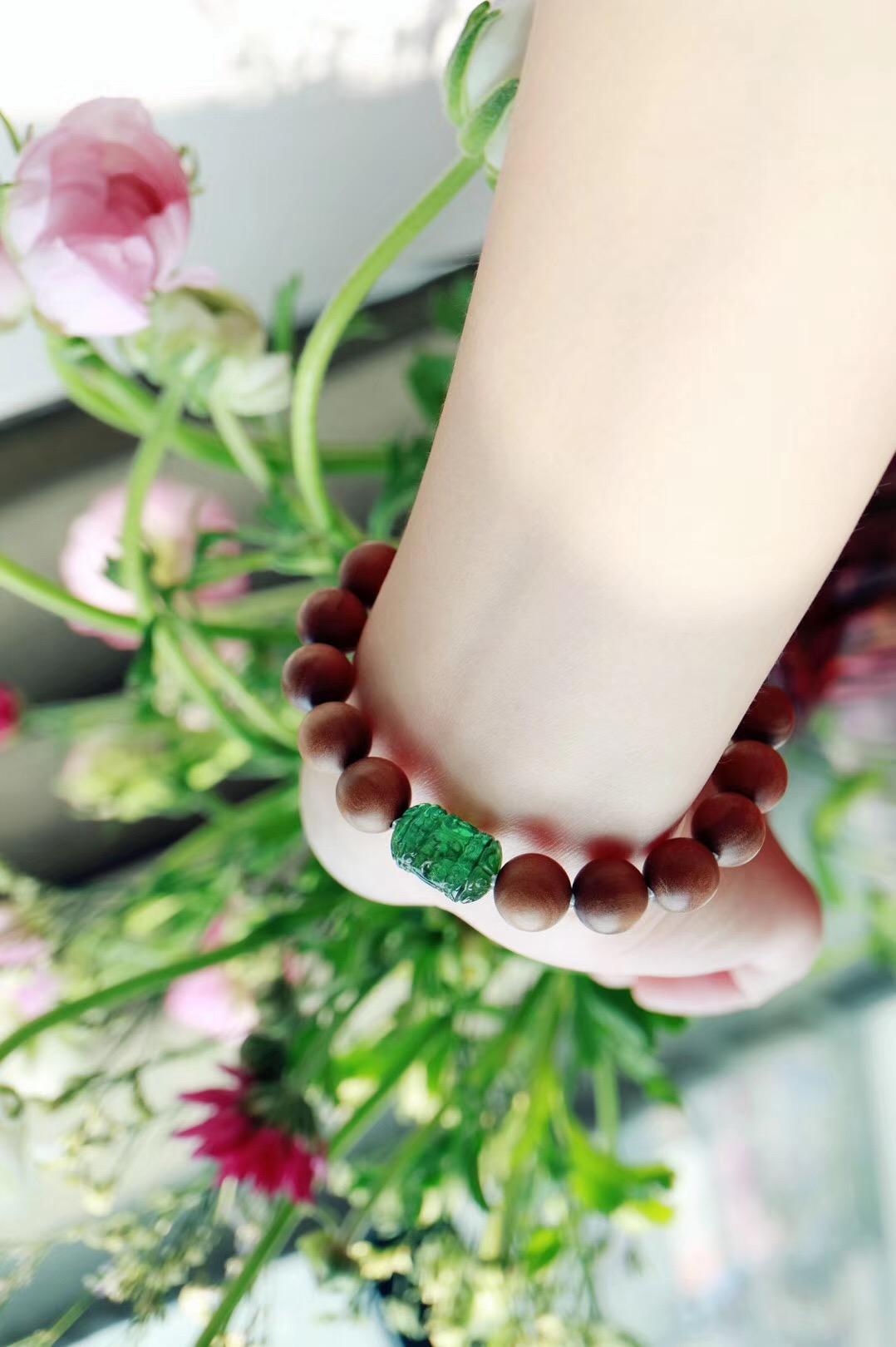 【老山檀 | 绿碧玺】 产自印度,檀香中的上乘之品-菩心晶舍