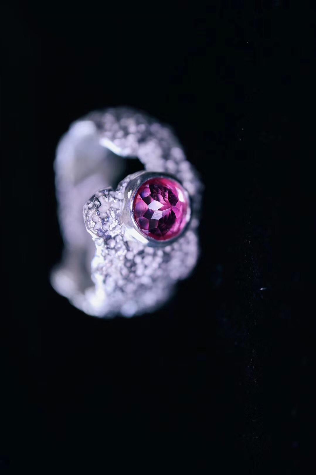 【菩心·碧玺戒-纯手工打造】有阳光☀️、自由🍾,和奔放不羁的戒指-菩心晶舍