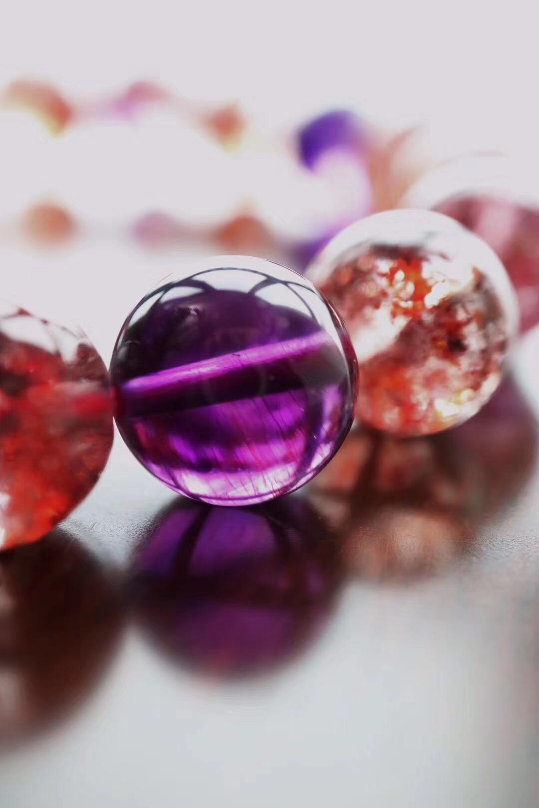 【菩心-极品紫发晶&超七】紫发晶,每一颗都是梦幻的-菩心晶舍