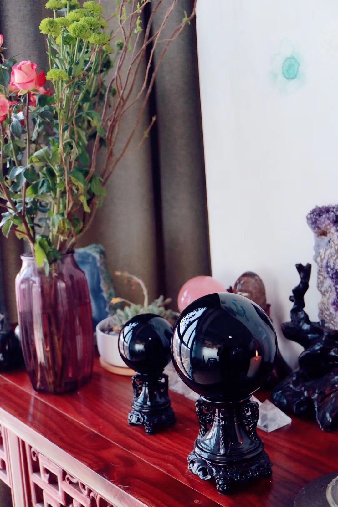 【菩心 | 黑曜石球】水逆和本命年期间非常好用-菩心晶舍