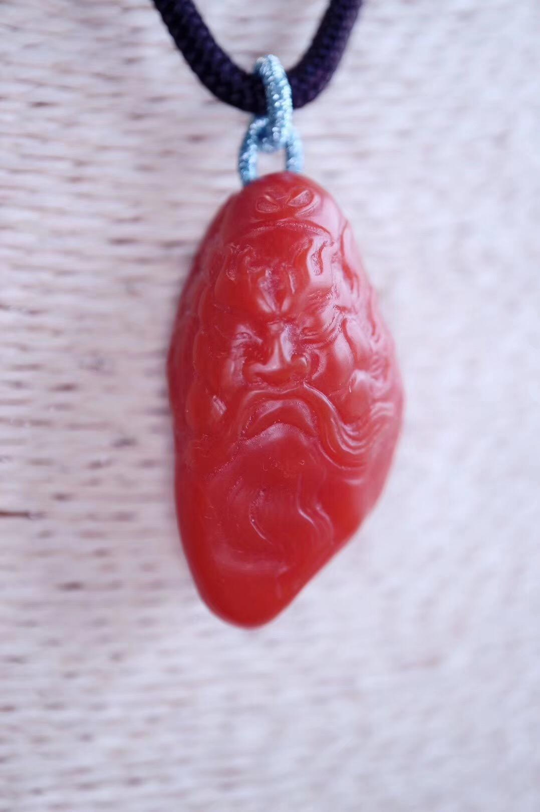 【菩心·南红玛瑙】保山南红-钟馗和超正的川料南红手牌,冷冷的冬季,就靠他们活血养颜了。-菩心晶舍