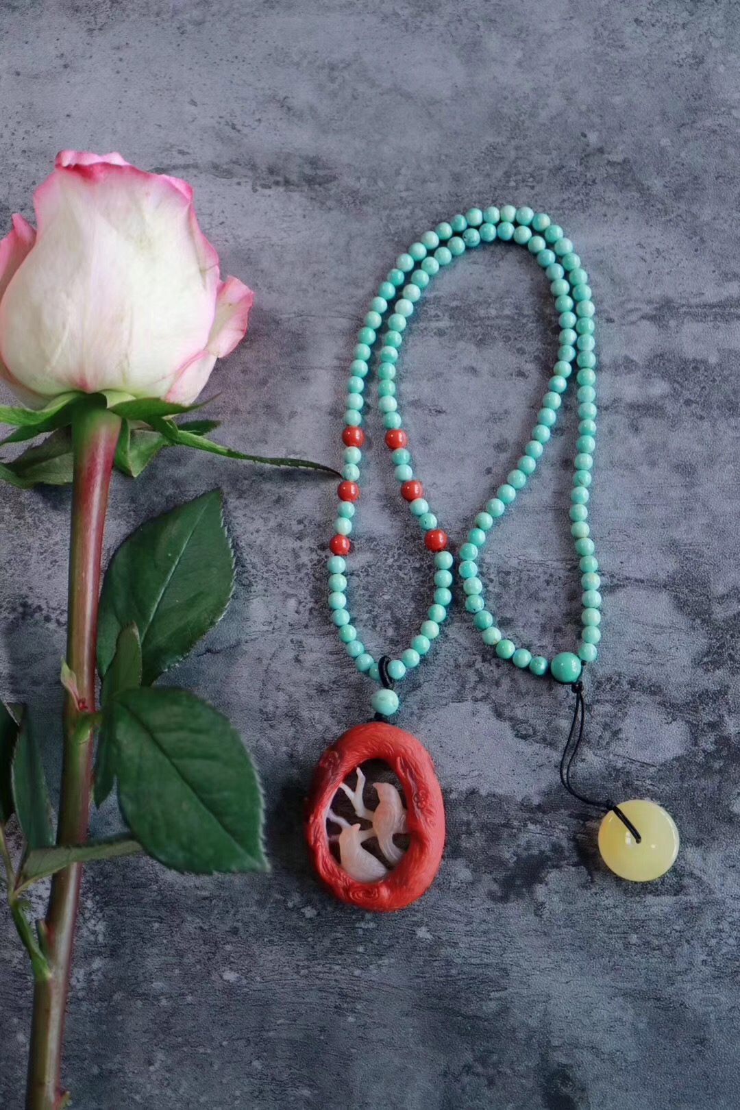 【菩心南红玛瑙 | 喜上眉梢&双喜临门】南红玛瑙象征喜庆和圆满-菩心晶舍