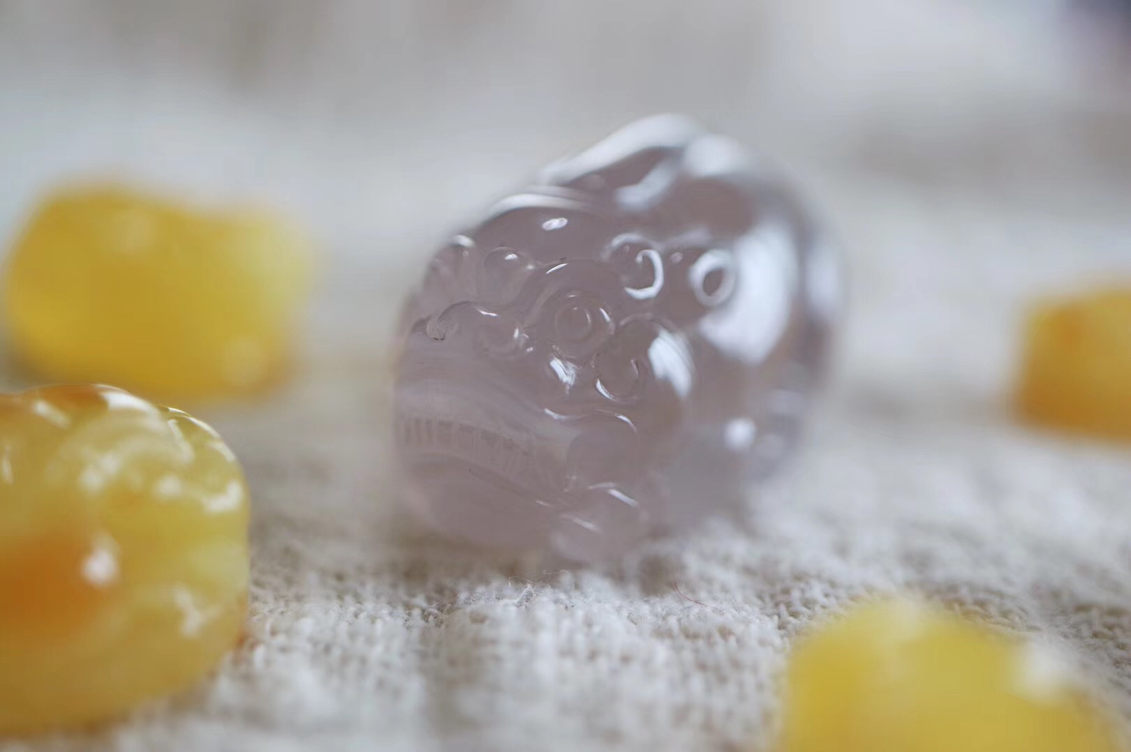 【菩心-南红荔枝冻貔貅、蜜蜡貔貅】苏工精雕立体貔貅,冰润饱满,有意的小主牵回家-菩心晶舍