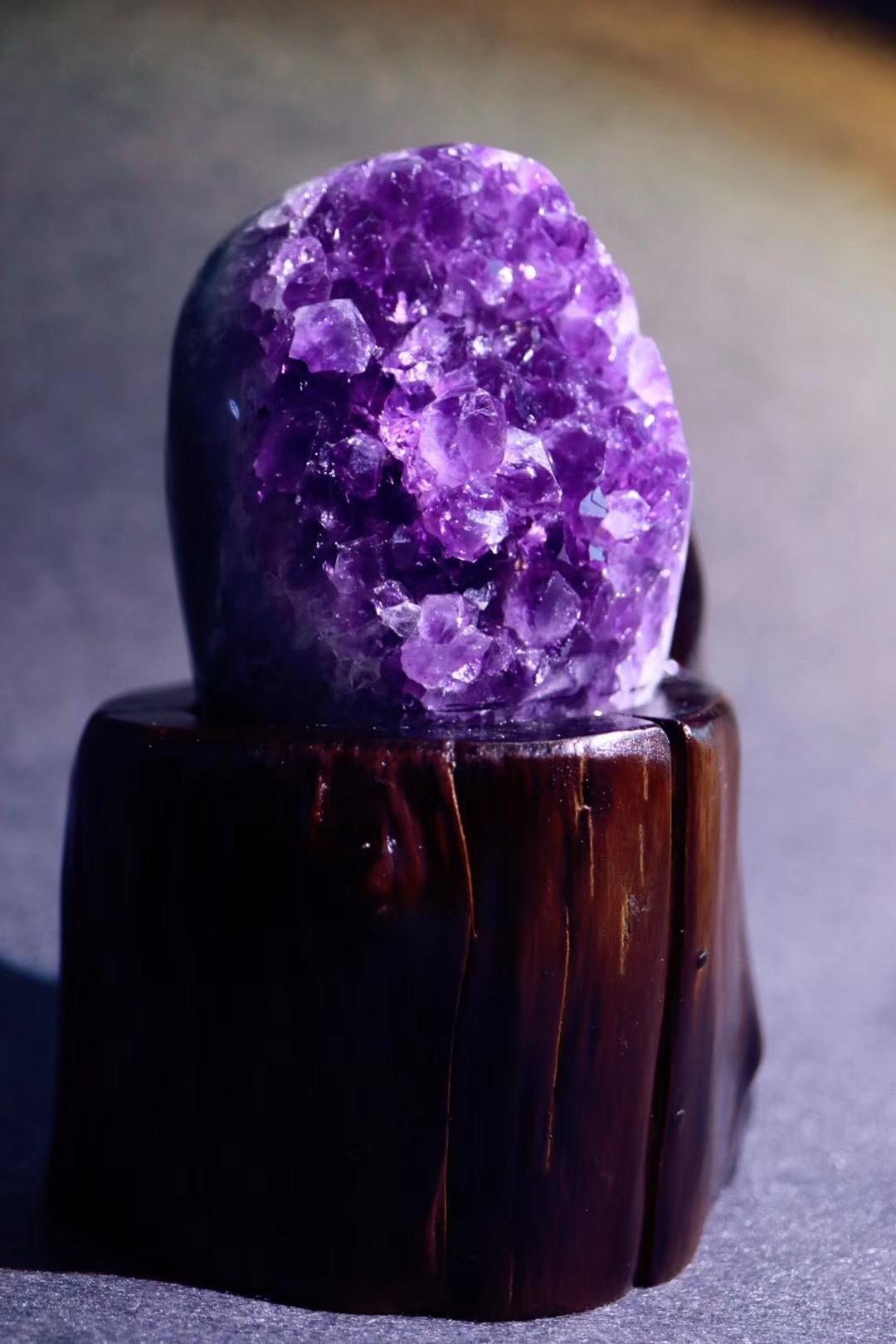 【紫晶簇】让你的灵感源源不断~~-菩心晶舍