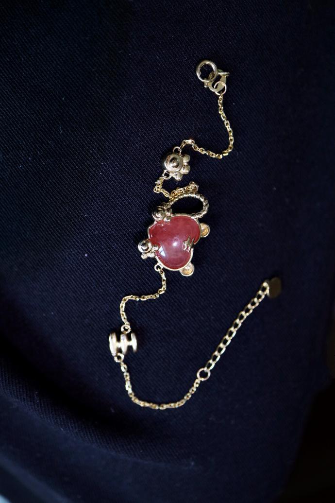【红纹石|粉欧珀】原来红纹石和粉欧珀,这么配...-菩心晶舍