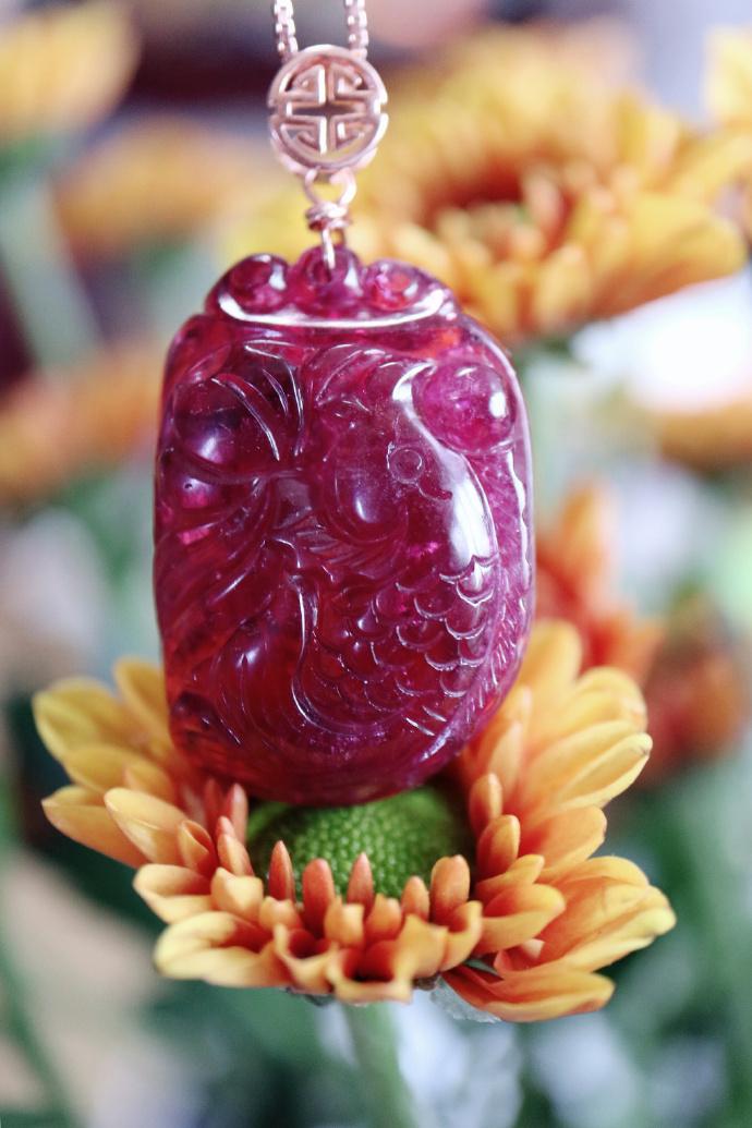 【红碧玺|锦鲤】 一种物种爆火,必然有他能量的加持-菩心晶舍