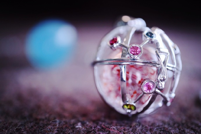 【白羊座♈️|天秤座⚖️-白金星座球】球里会有很多小秘密哦-菩心晶舍