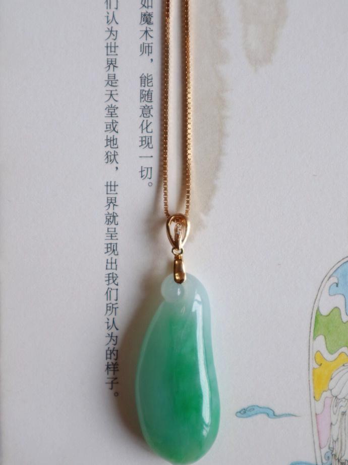 【翡翠|18k金扣】奉上这枚润透的翡翠福瓜,有缘者可得-菩心晶舍
