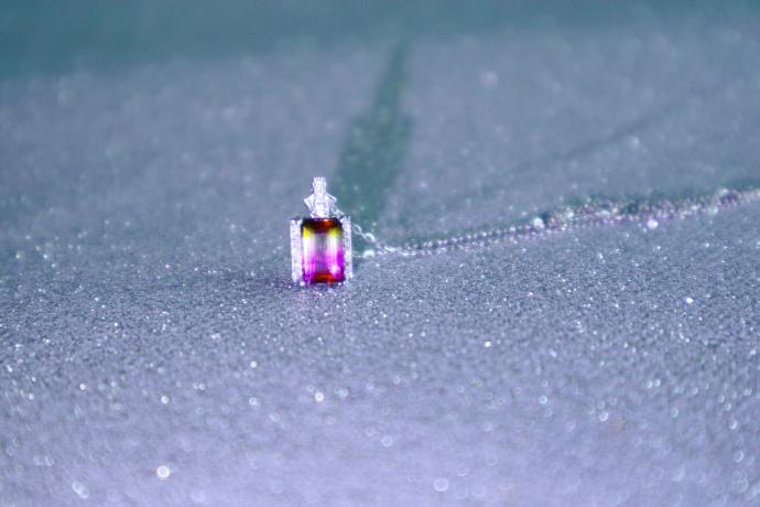 【西瓜碧玺-白金锁骨链】-客订~ 极致惊艳的锁骨链-菩心晶舍