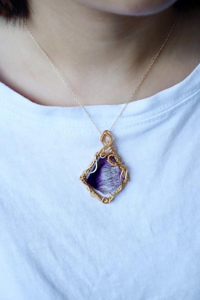 【紫发晶】经常佩戴可以提高个人魅力,增强爱情运-菩心晶舍