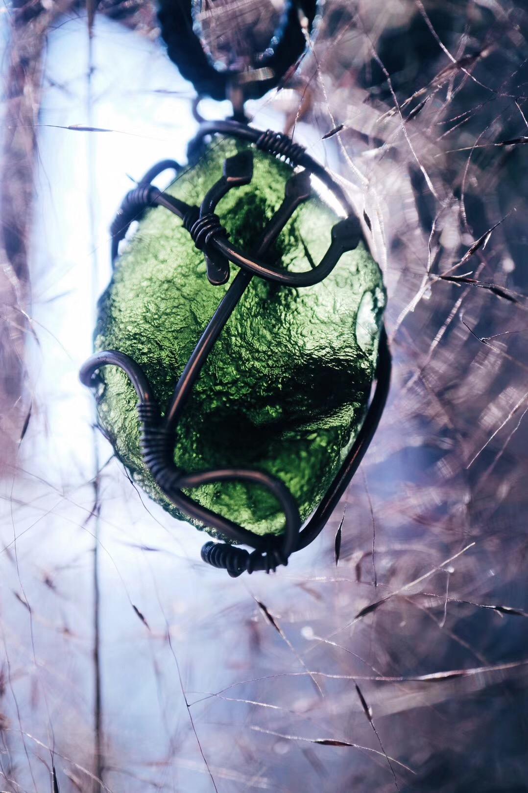 【菩心捷克陨石-美人鱼】奉上捷克陨石-女神版。这三叉戟,可爱的模样深得我心!-菩心晶舍