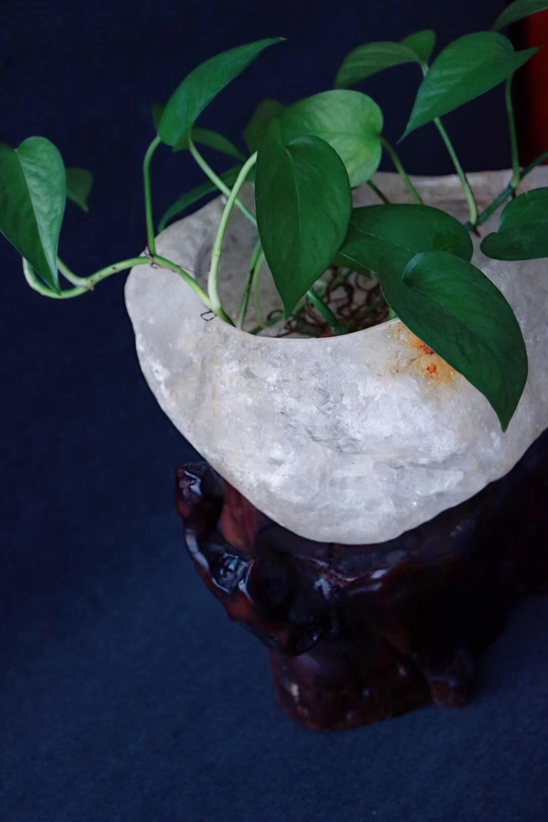 【菩心 | 白水晶聚宝盆】风水学上,天然水晶有风水石之称-菩心晶舍