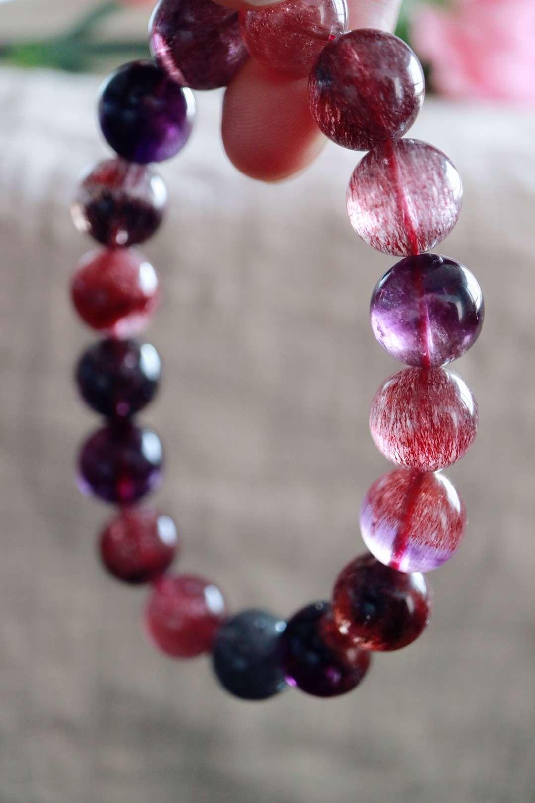 【菩心三轮骨干紫发晶】发丝浓密,能量满满,文艺工作者尤为合适-菩心晶舍